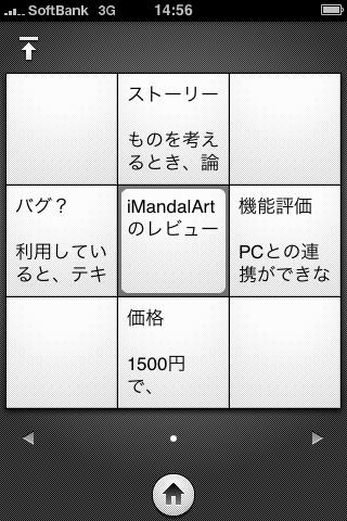 iMandalartのスクリーンショット