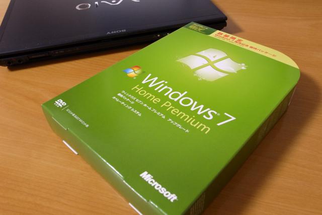 Windows7とVAIO VGN-TZ50Bの写真