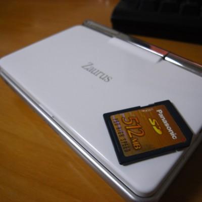 Zaurus SL-C3000 + SDカードの写真