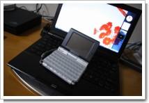 CLIE PEG-UX50とVAIO Type TZの写真