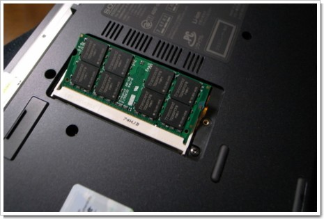 VAIO VGN-TZ50Bの増設メモリ 2GB