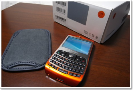 SoftBank X02HTの標準キャリングケースの写真