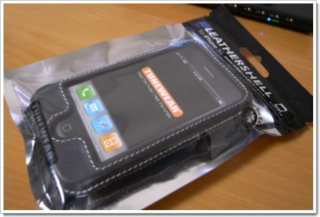 LEATHERSHELL for iPhone 3G TUNEWEARの写真